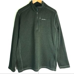 Eddie Bauer Radiator Fleece Knit Half Zip Sweater